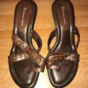 Etienne Aigner slip on leather sandal